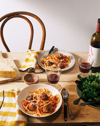 "Spaghetti and Eggplant ""Meatballs"" recipe"