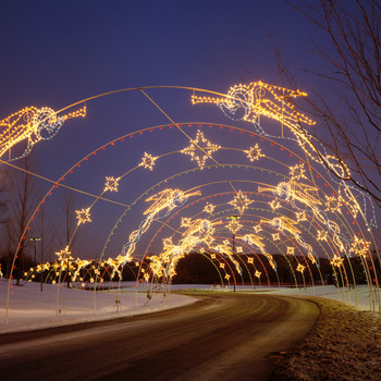 drive through christmas lights archway