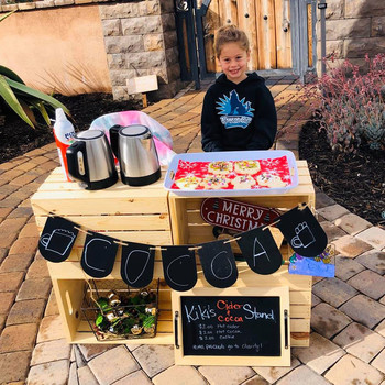 Katelynn and her cocoa stand