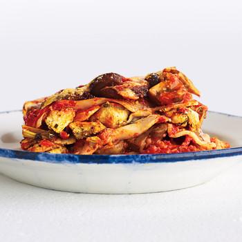 Light Artichoke and Mushroom Lasagna