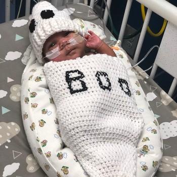 Neonatal Halloween ghost costume