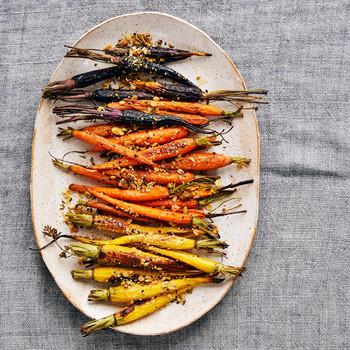oat dukkah roasted carrots