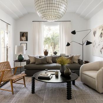 spanish art deco home tour living room