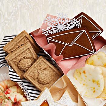 stamped pinecone envelope cookies