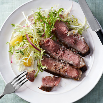 Steak With Pink-Peppercorn Butter