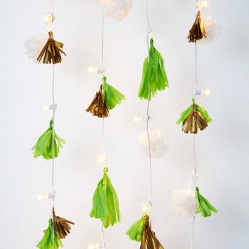Tasseled String Light Garland