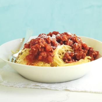 turkey bolognese spaghett squash