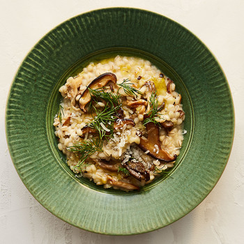 barley risotto mushrooms dill