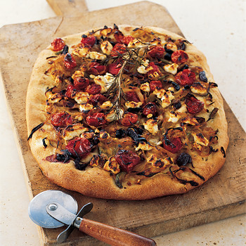 Goat Cheese, Tomato, and Caramelized Onion Tart