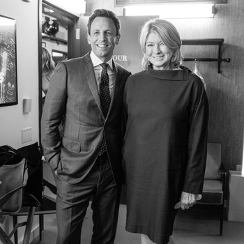 Martha Stewart and Seth Meyers