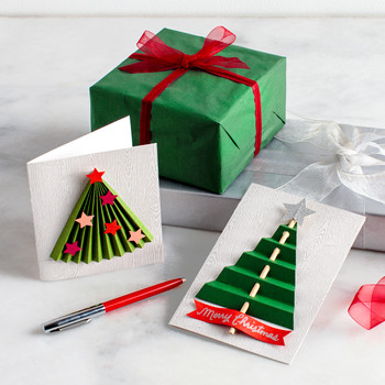 3-D Christmas-Tree Cards