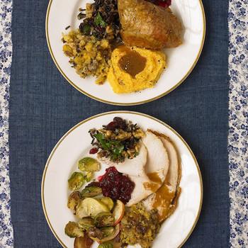 两个板块的准备感恩节食物