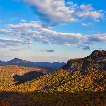 Shadow of the Bear at the the Rhodes Big View Overlook between Highlands and Cashiers