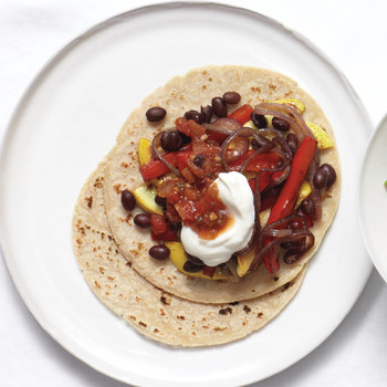 Summer Vegetable and Bean Tacos