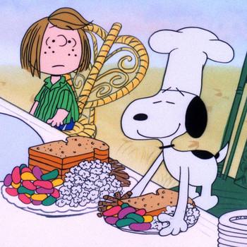 来自查理棕色感恩节的感恩桌子