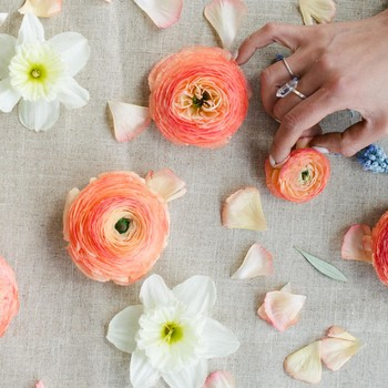 Forget the Centerpiece! Party Up the Table with Floral Confetti