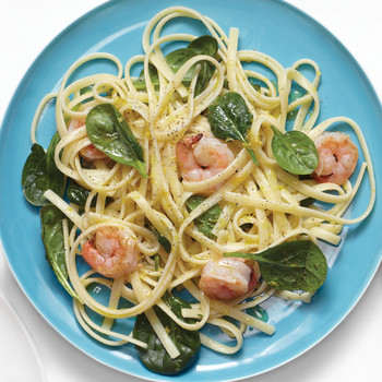 Linguine with Shrimp and Spinach