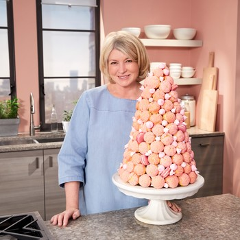 Martha with croquembouche