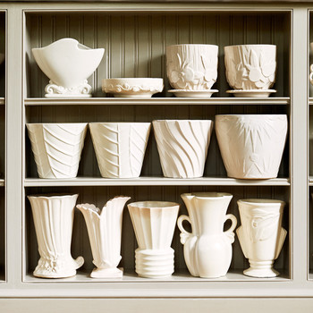 white McCoy pottery