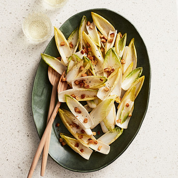 whole endive salad anchovy dressing