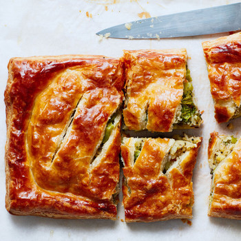 "Broccoli-and-Potato ""Samosa"" Pie recipe"