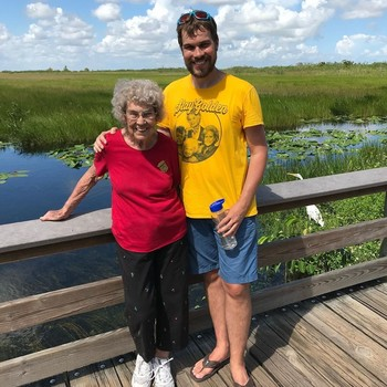 Grandmother and grandson, Joy Ryan and Brad Ryan, at Everglades National Park
