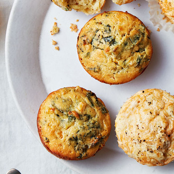 Kale, Corn, and Jalapeno Muffins