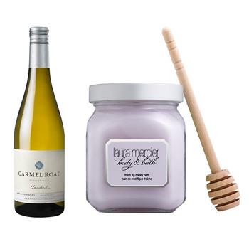 Carmel Road Unoaked Chardonnay Laura Mercier Fresh Fig Honey Bath