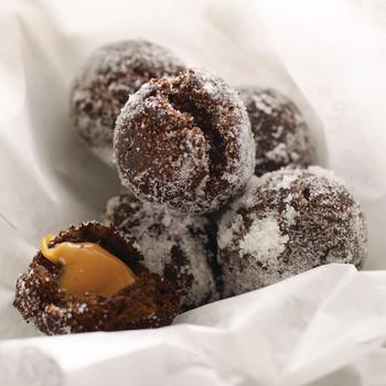 chocolate caramel doughnut holes