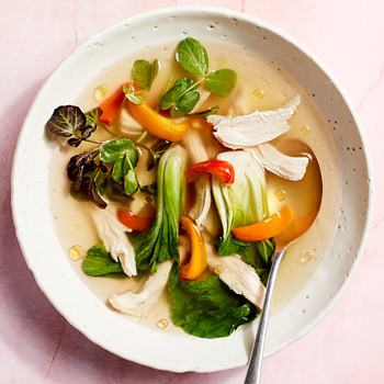 green thai chicken soup