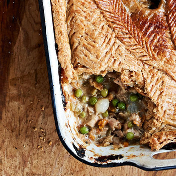 pheasant potpie with spelt crust