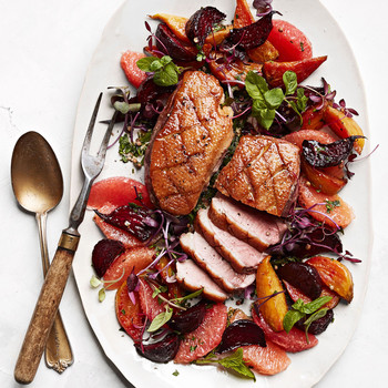 Warm Duck Salad with Caramelized Beets recipe