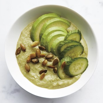 Avocado, Cucumber, and Apple Smoothie Bowl