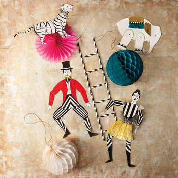 Acrobat and Circus Animal Ornaments