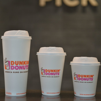 Dunkin Donuts Eco-Friendly Recyclable Coffee Cups