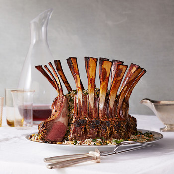 Crown Roast of Lamb with Pilaf Stuffing
