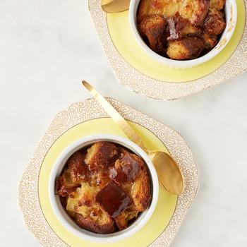 Mini Bourbon Bread Puddings