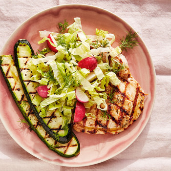 Grilled-Chicken-and-Zucchini Salad recipe