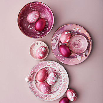 luster splatterware easter eggs in china