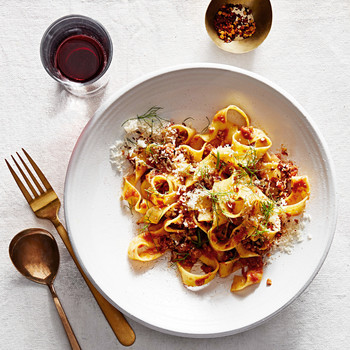 pappardelle with quick fennel ragu