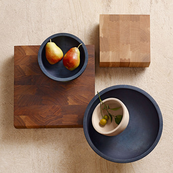 Silvia Song's wooden bowls and butcher blocks