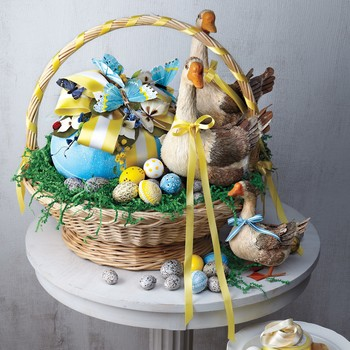 Easter Basket with Geese