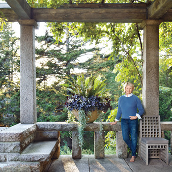 Martha's 'Skylands' Home in Maine: Terrace in the Treetops