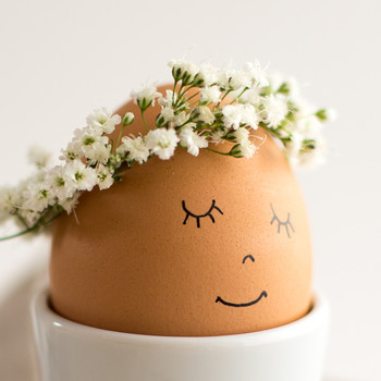 Floral Wreath Eggs