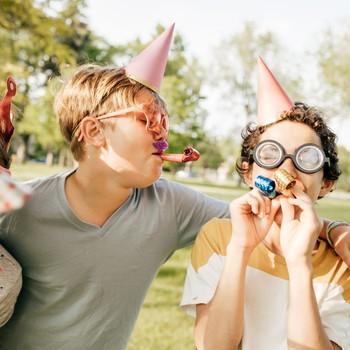 Kids having fun on birthday party