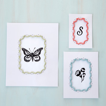 Frame Border Punch Embroidered Gallery Wall Frames