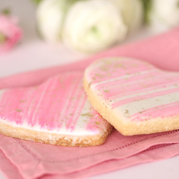 Iced Sugar-Cookie Hearts