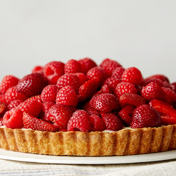 red fruit tart martha bakes raspberries strawberries