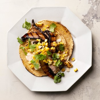 mushroom tacos with charred corn salsa