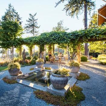 Japanese-inspired outdoor garden